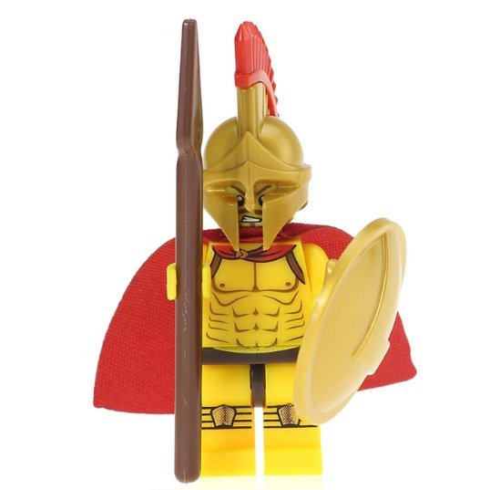 Leonidas Spartan King Warrior Minifigure Ancient Greece History Lego compatible Blocks