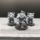 3pcs Obsidius Mallex Servants of the Abyss Warband Lord Chaos Space Marines Warhammer Models 1/32