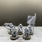 5pcs Cadian Command Squad Astra Militarum Imperial Guard Warhammer Resin Models 1/32 Figures