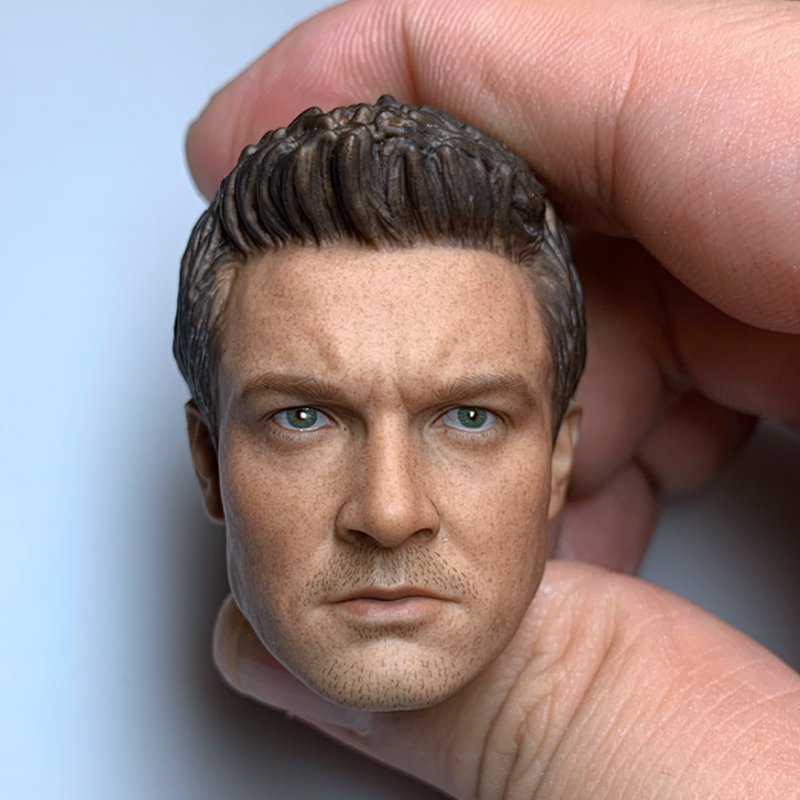 1/6 Hawkeye Head Avengers Jeremy Rennerr Marvel Super Heroes 1/12 Action Figures Toys Hobby Games