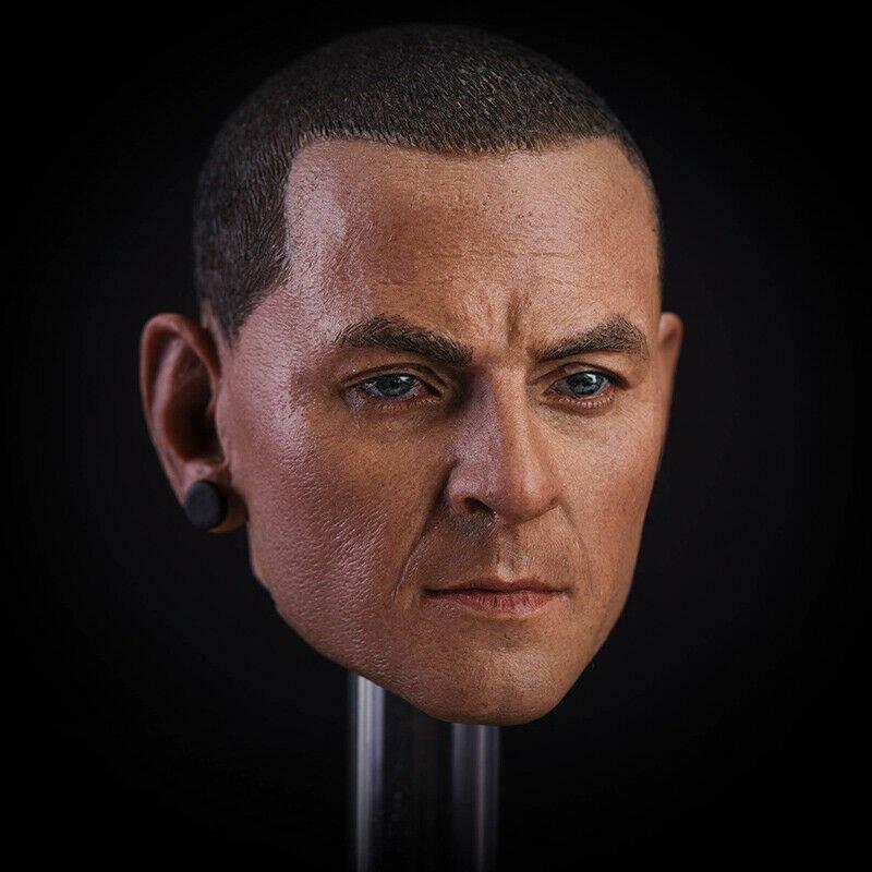 1/6 Chester Bennington Head Linkin Park Music Alternative for 1/12 Action Figures Toys Hobby Games