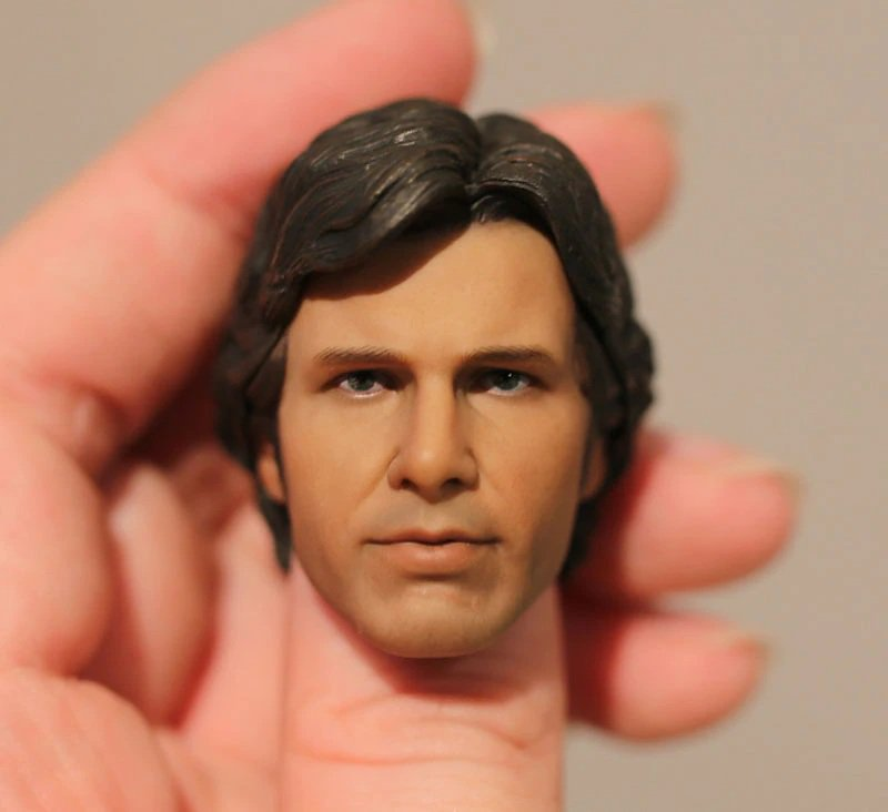 1/6 Han Solo Head Star Wars Harrison Ford for 1/12 Action Figures Toys Hobby Games