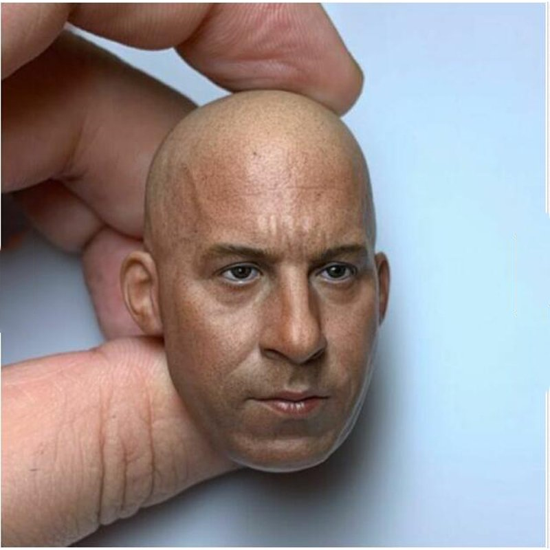 1/6 Dominic Toretto Head The Fast and the Furious Vin Diesel Movie 1/12 Action Figures Toys Hobby
