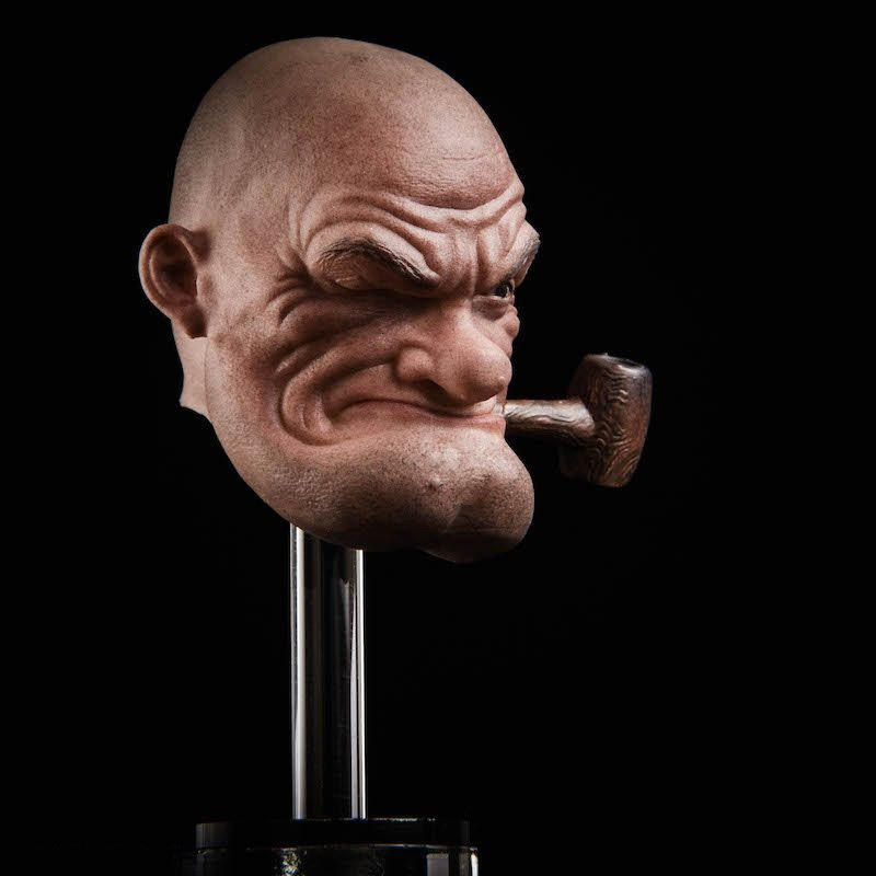 1/6 Popeye the Sailor Head for 1/12 Action Figures Toys Hobby