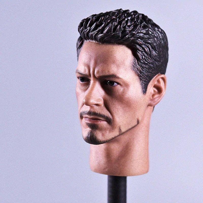 1/6 Tony Stark Head Iron Man Robert Downey Jr. Marve Super Heroes 1/12 Action Figures Toys Hobby