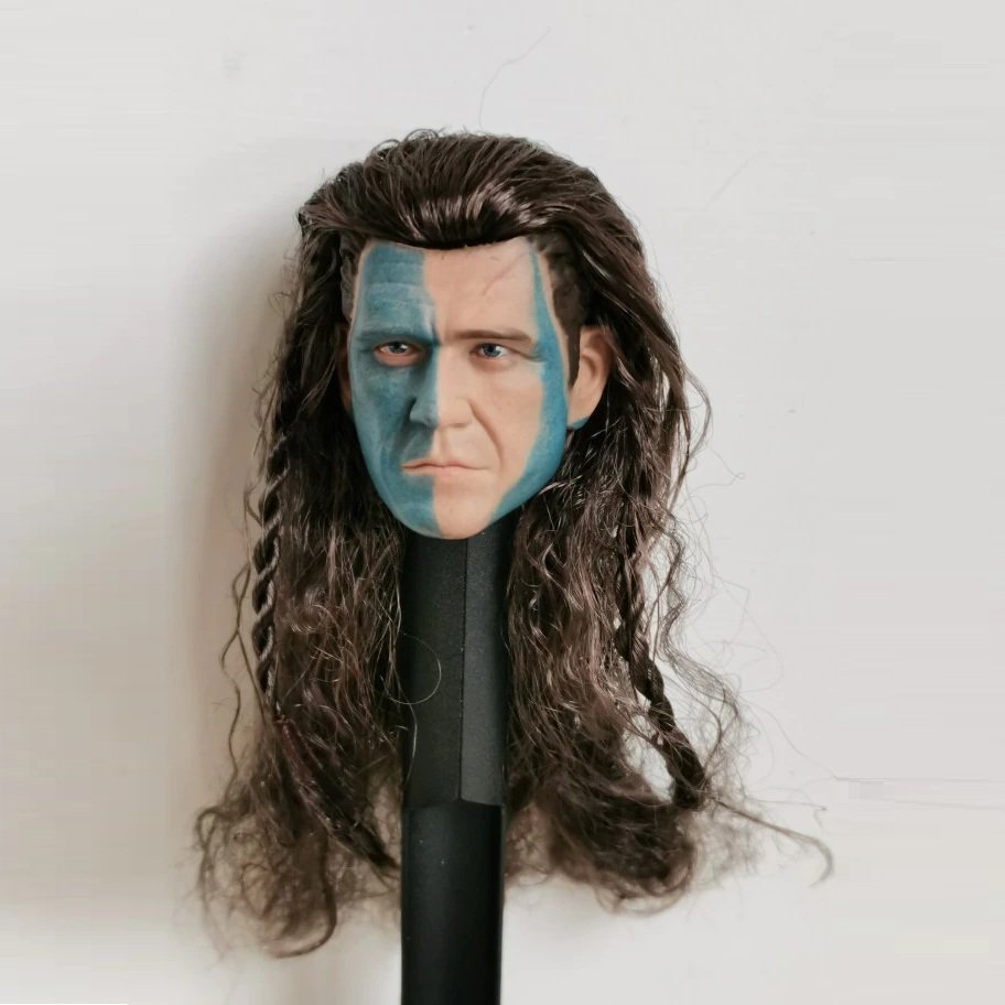 1/6 Mel Gibson Head William Wallace Braveheart Movie Cinema for 1/12 Action Figures Toys Hobby