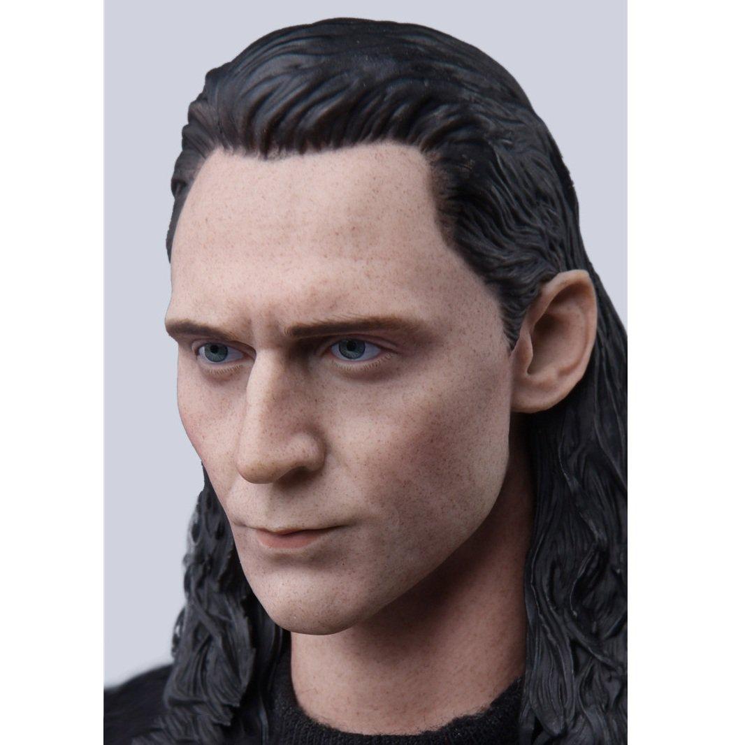 1/6 Loki Head Avengers Tom Hiddleston Marvel Super Heroes 1/12 Action Figures Toys Hobby Games