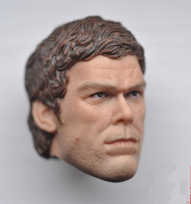 1/6 Dexter Morgan Head Dexter Michael C. Hall TV Series Movie for 1/12 Action Figures Toys Hobby