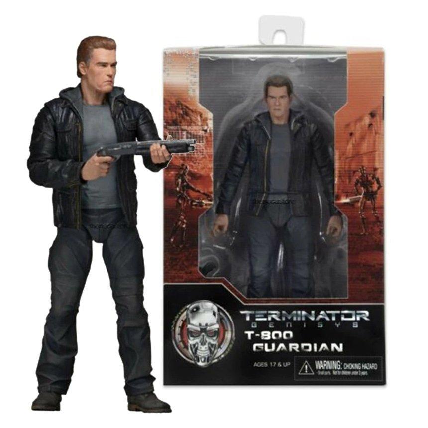 NECA T-800 Guardian Terminator Genisys Arnold Schwarzenegger Action Figure Toys