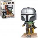 Funko POP! The Mandalorian with The Child Yoda #402 Star Wars Vinyl Action Figure Toys