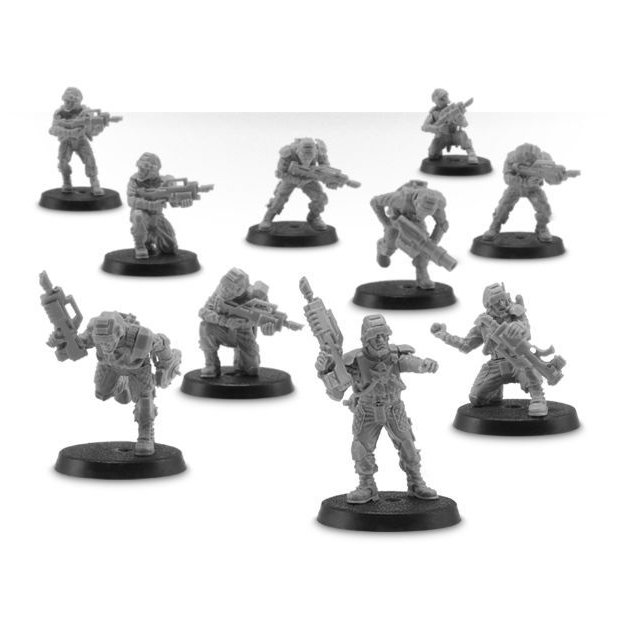 10pcs Elysian Drop Troops Squad Astra Militarum Imperial Guard Army Warhammer 40k Forge World