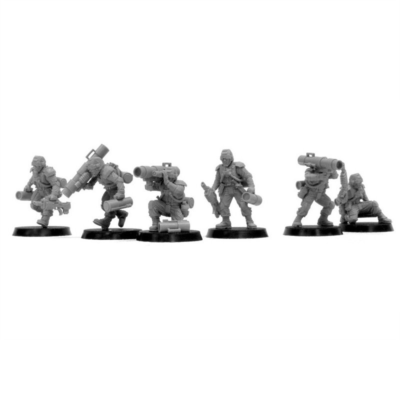 6pcs Elysian Missile Squad Astra Militarum Imperial Guard Army Warhammer 40k Forge World Figures