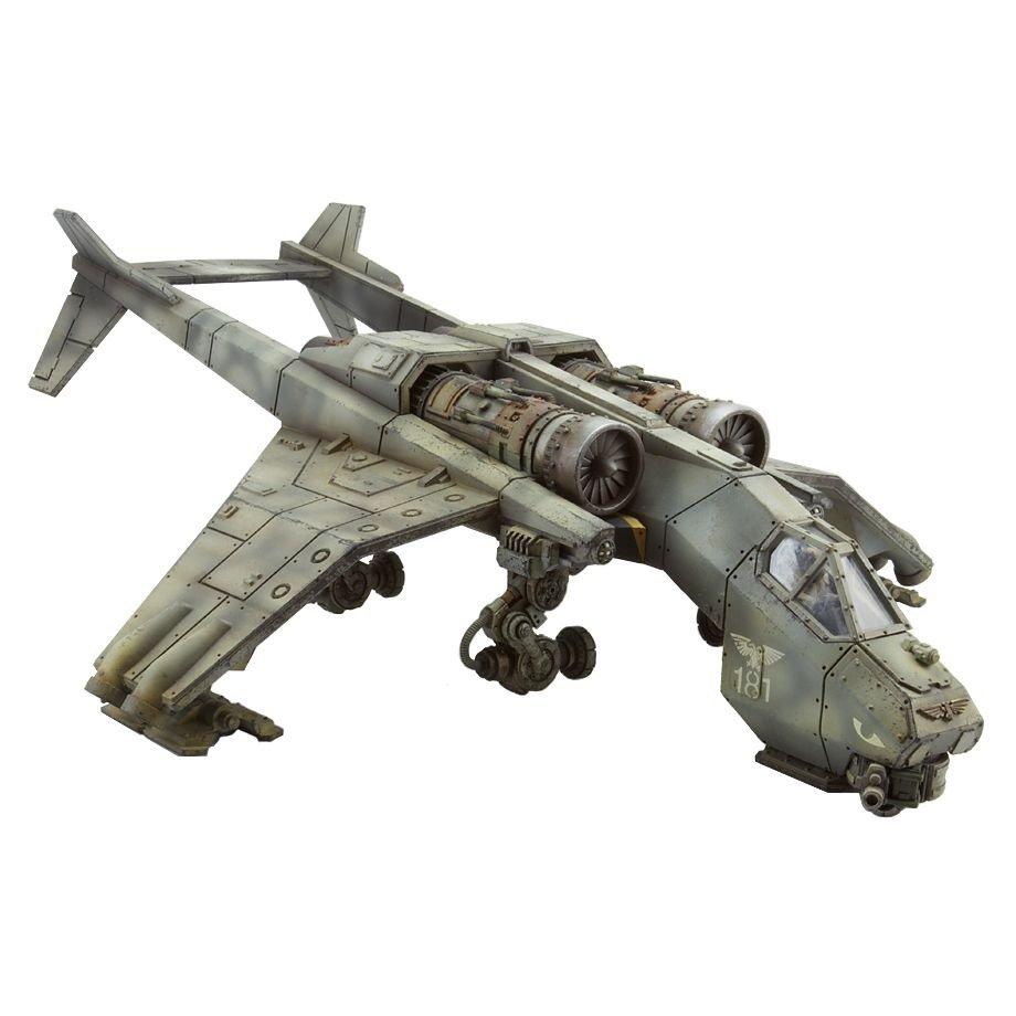 1pcs Valkyrie Sky Talon Imperial Navy Astra Militarum Army Warhammer 40k Forge World Figures Toys