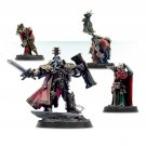 4pcs Inquisitor Lord Hector Rex and Retinue Ordo Malleus Warhammer 40k Forge World Figures Toys