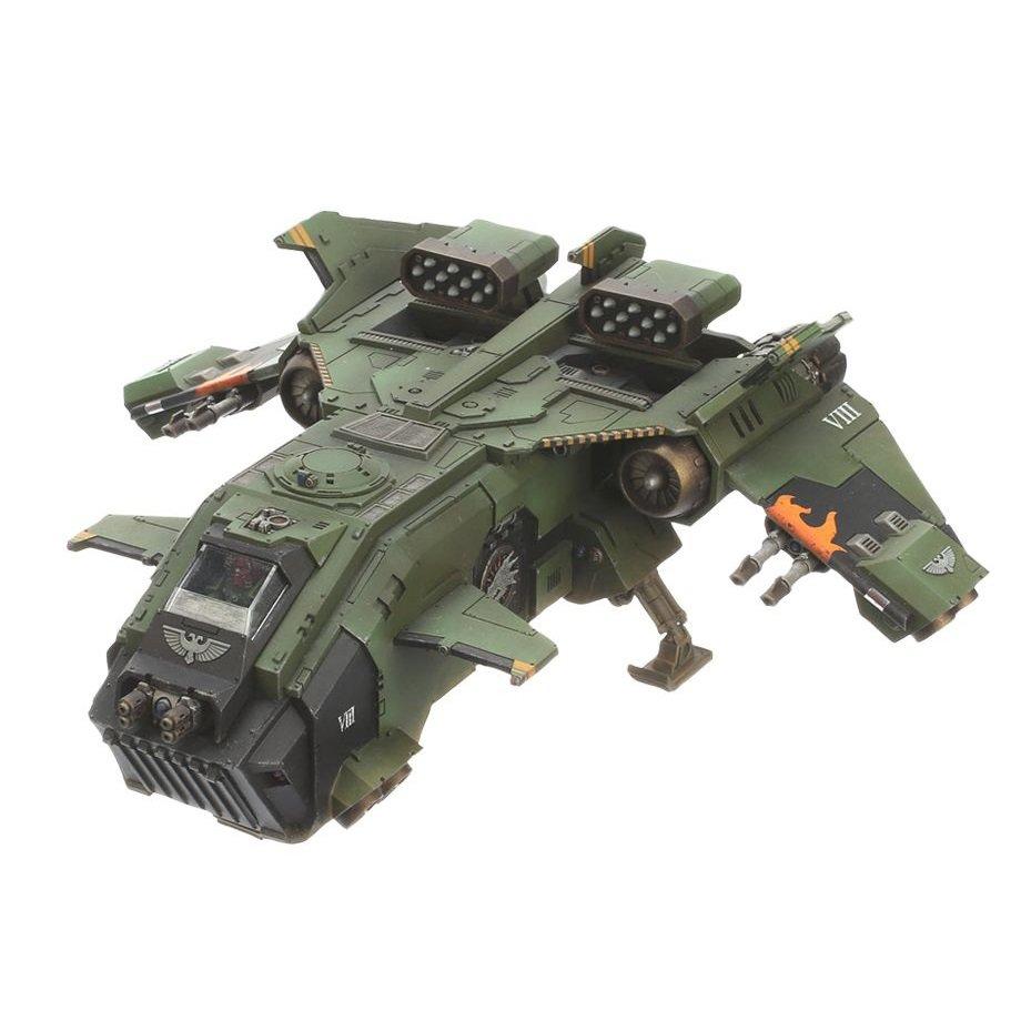 1pcs Storm Eagle Gunship Imperial Navy Space Marine Warhammer 40k Forge World Action Figures Toys