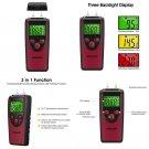 LCD Digital Moisture Meter Detector Hand Tester Wood Firewood Concrete Drywall