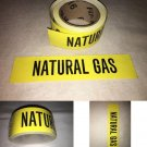 Roll of Natural Gas Pipe Marker, 72 Labels in a roll, With liner, Self adhesive