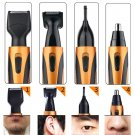 Nose Hair Trimmer, 4 In 1 Rechargeable Nose Trimmer /Nose Ear Trimmer/Beard Trim