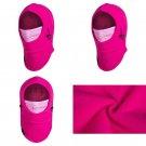 Kids Face Mask Girl Balaclava Winter Ski Hood Neck Thermal Fleece Windproof Pink
