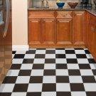 Black And White Flooring Tiles Self Adhesive Vinyl Floor Tile Peel N' Stick Home
