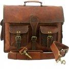 """Handmade 16"""" Leather Handmade Briefcase Messenger Bag For Men Women"""