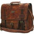US Men's Vintage Genuine Leather Messenger Shoulder Bag Military Travel Satchel