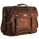 15/16/18 Women's Vintage Genuine Brown Leather Messenger Shoulder Cross Body Bag