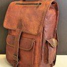Women Men Retro Genuine Leather Backpack Shoulder Bag School Laptop Rucksack New