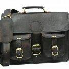 Unisex Business leather Shoulder Bag Messenger Bag Office work Satchel