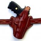 "Colt 1911 OWB Thumb Break Genuine Leather Belt Holster 5"" inch"
