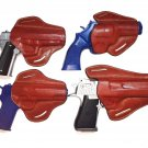 RIGHT HAND BROWN LEATHER BELT HOLSTER with OPEN TOP - CHOOSE GUN MODEL