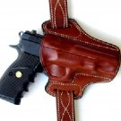 Open Top For Fast Drawing For CZ 75  Leather Belt holster