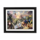 Beauty And The Beast by Thomas Kinkade Disney Dreams Collection - Fully Framed