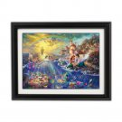 The Little Mermaid by Thomas Kinkade Disney Dreams Collection - Fully Framed