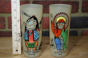 Bill Flores Chief and Warrior Tumblers
