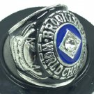 1955 Brooklyn Dodgers World Series Championship Men Silver Ring Size 11 Only