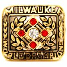 1957 Milwaukee Braves Hank Aaron Championship Gold Plated Ring Size 11