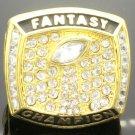 2017 Fantasy Football Team FFL Gold Championship Ring-Size 8-14