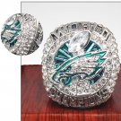 2018 Philadelphia Eagles NBA Silver Championship Ring Foles-Size 11