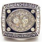 1980 Oakland Raiders World Championship Silver Ring Plunkett-Size 11-No Box