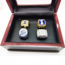 1986 1990 2007 2011 4pcs New York Giants Championship Rings Set-Size 11-With Box