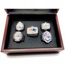 2001 2003 2004 2014 2016 5pcs New England Patriots Championship Rings Set-Size 11-With Box