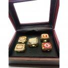 5pcs Washington Redskins Championship Rings Set-Size 11-With Box