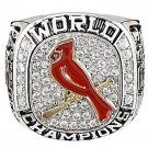 2011 St. Louis Cardinals World Series Championship Silver Ring-Size 11-No Box