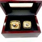 1992 1993 2pcs Toronto Blue Jays Baseball Championship Rings Set-Size 11-With Box