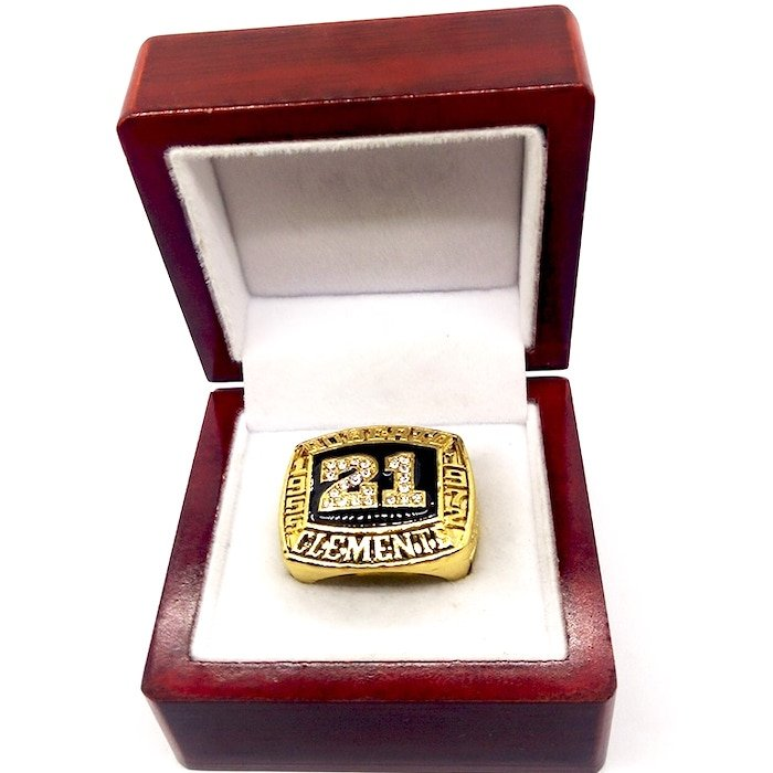 1955 1972 ROBERTO CLEMENTE Hall Of Fame Player Ring-Size 5-13-With Box