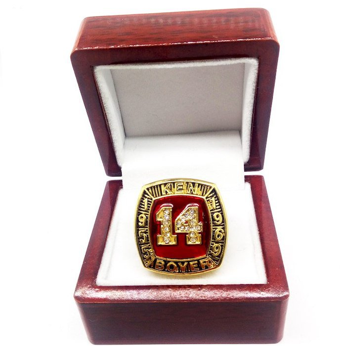 1955 1969 KEN BOYER Hall Of Fame Player Ring-Size 11-With Box