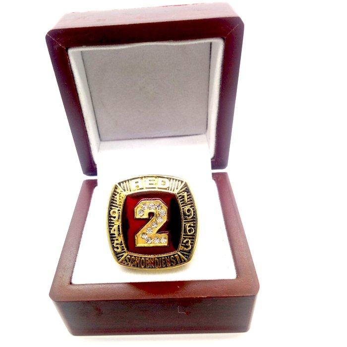 1945 1963 RED SCHOENDIENST 1989 Hall Of Fame Player Ring-Size 11-With Box