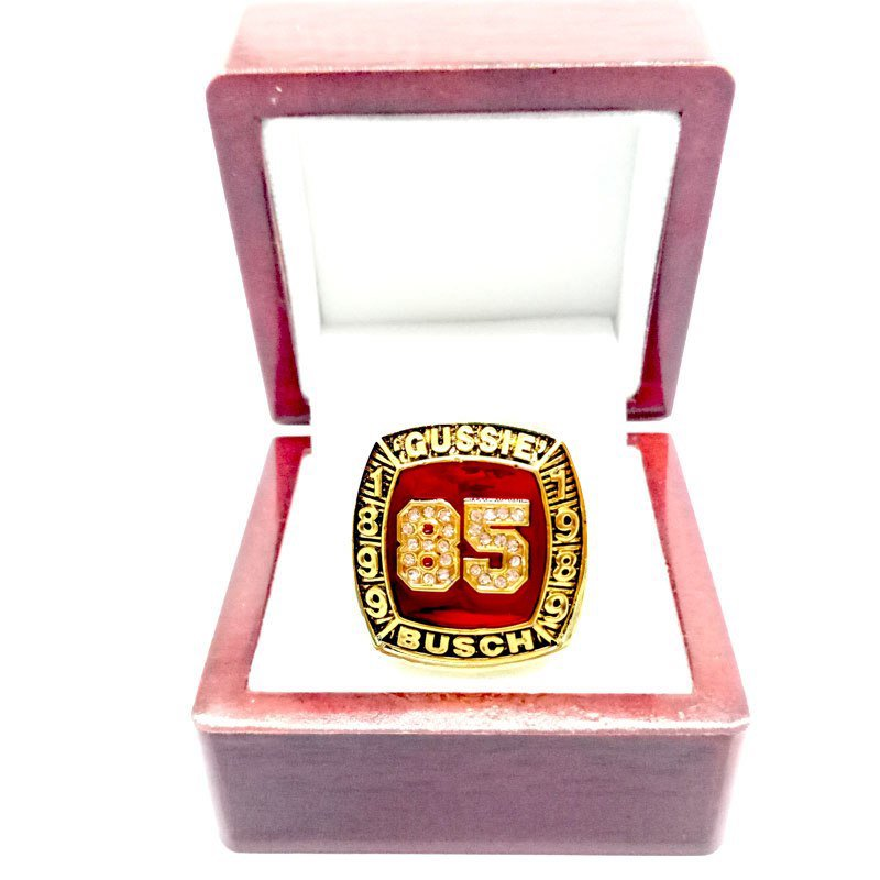 1899-1989 Gussie Busch Hall-of-Fame Championship Ring-Size 11-With Box