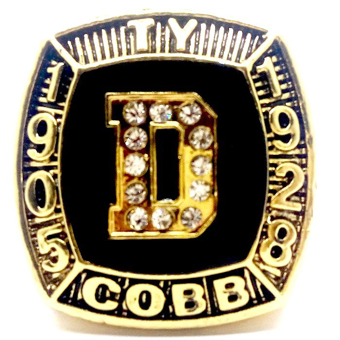 1905-1928 DETROIT TIGERS TY COBB Hall Of Fame Player Ring-Size 11-No Box